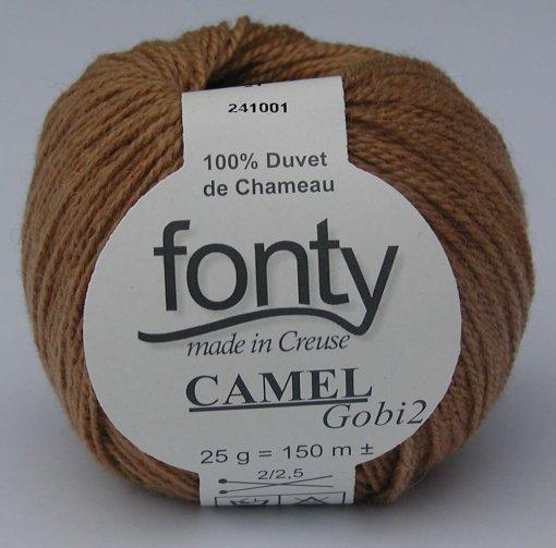 Naturfarvet Camel strikkegarn GOBI 2